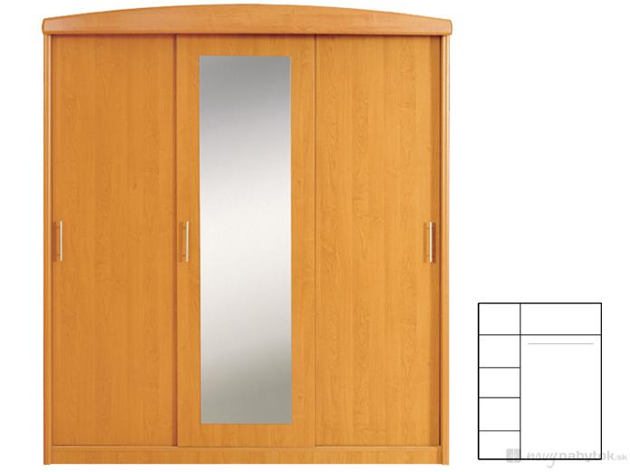 Šatníková skriňa - BRW - 185 3D